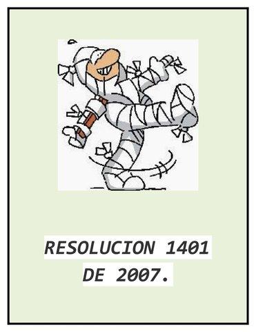 Resolución 1401 - 2007 Colombia