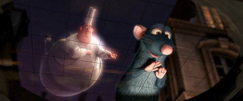 Chef Gusteau, the figment of Remy's imagination