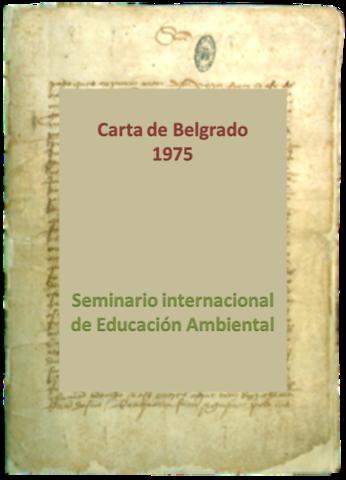 Belgrado. Seminario internacional sobre educación ambiental