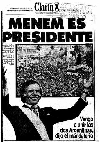 PRESIDENCIA DE CARLOS SAÚL MENEM