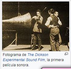 PRIMERA FILMACIÓN CON SONIDO