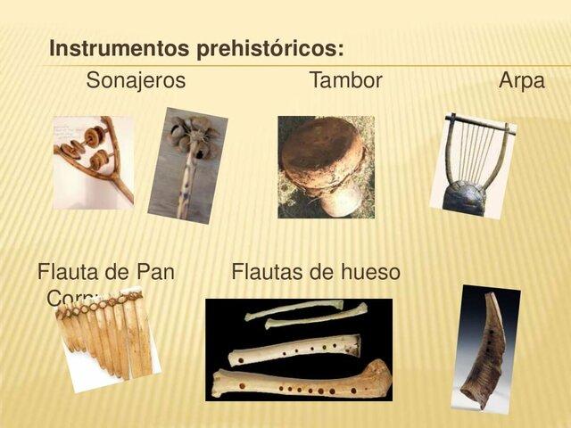 Principales instrumentos musicales.