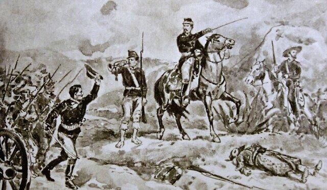 Porfirio Díaz participa en la batalla de Puebla