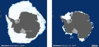satellite images show arctic sea ice is melting