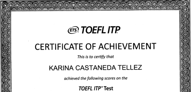 Certificación TOEFL