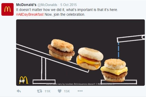 """PRWeek campaña del año 2017 """"McDonald's: All Day Breakfast"""""""