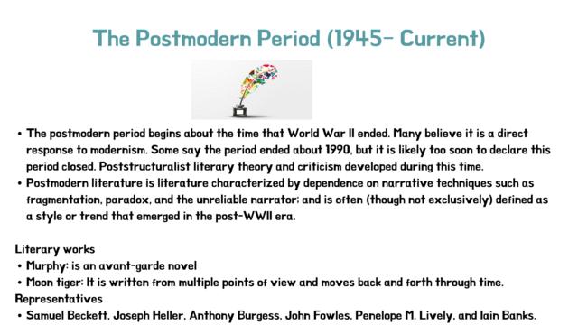 The Postmodern Period