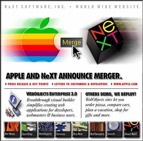 Apple adquiere Next Computer por $427 millones de dólares