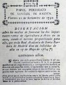 La primera publicación periodística en Nuevo Reino de Granada.