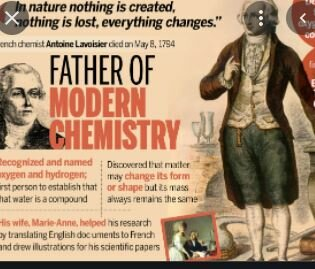 Lavoiser the Father of chemistry