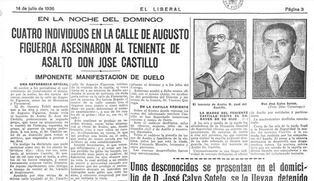 Asesinato del teniente de la Guardia de Asalto José Castillo