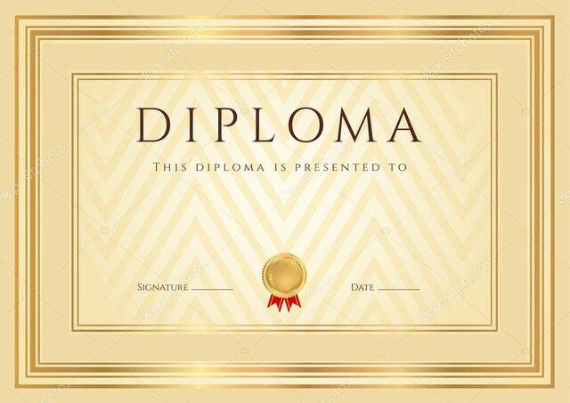 Diploma de creatividad manual