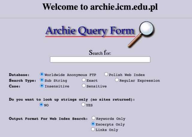 Naissance du moteur de recherche Archie
