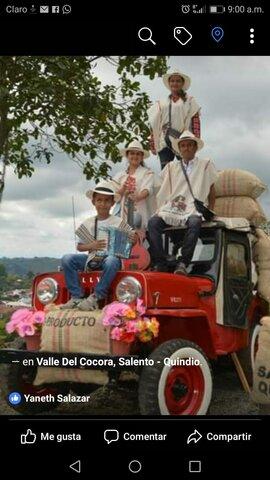 Paseo en familia en valle del Cócora