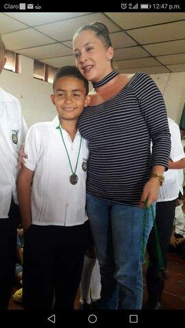 Recibí medalla de honor en el grado 5