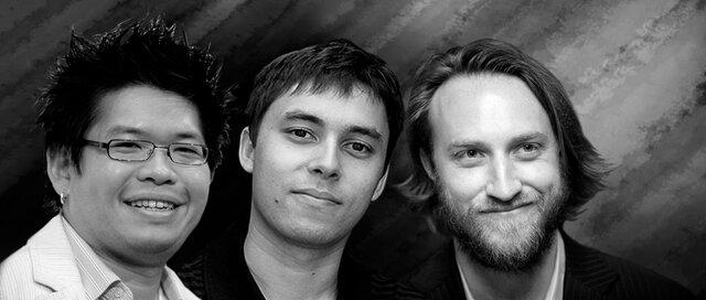 Chad Hurley, Steve Chen y Jawed Karim (2005)