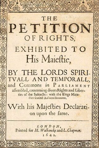 INGLATERRA- Petition of rights
