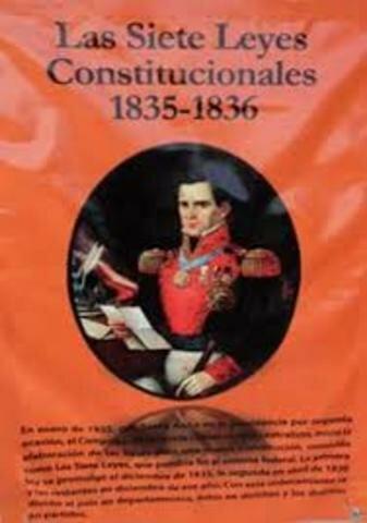 Las Siete Leyes Constitucionales, 1835-1836