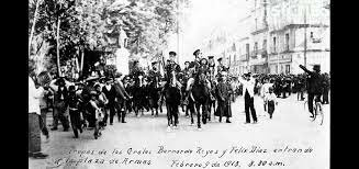 Victoriano  Huerta  dio  un  golpe  de  Estado  contra  Madero