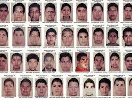 fueron desaparecidos  43  estudiantes  normalista