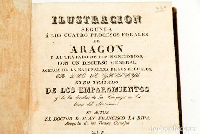 ESPAÑA- Procesos Forales de Aragón