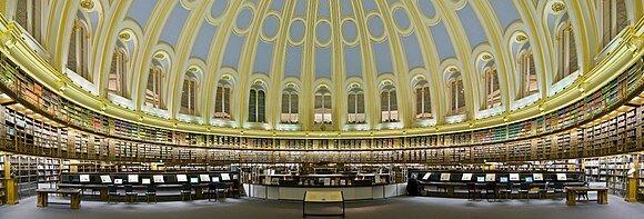 Se asoció a la  la Sala de Lectura del Museo Británico