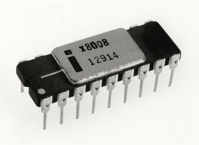 Первый 8-битный центральный процессор Intel 8008
