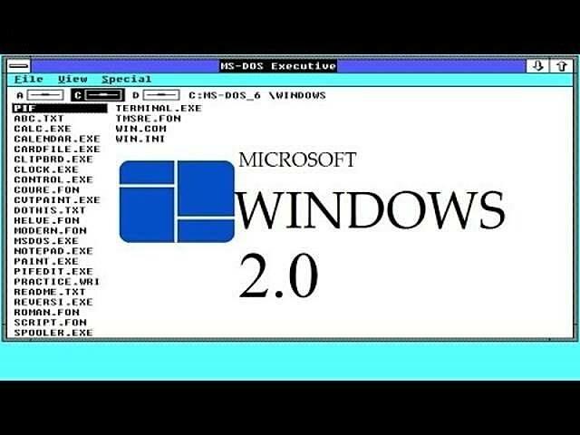 Windows posa el windows 2.0