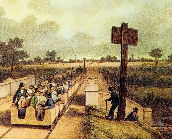 Первая паровая железная дорога Ливерпуль - Манчестер