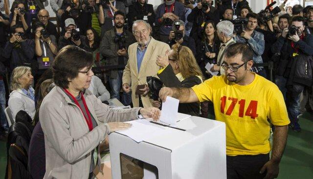 primera votació del referèndum(polític)