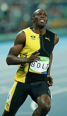 Evento sportivo= Usain St.Leo Bolt medaglia d'oro nei 100 e 200 metri di piano
