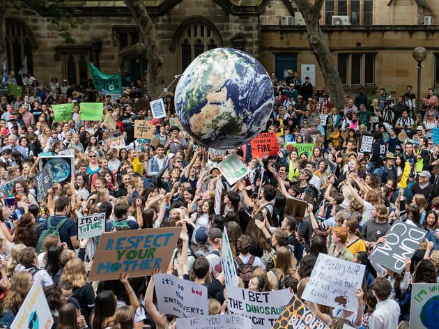Manifestació contra el canvi climàtic