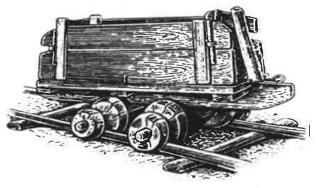 Вагонетка на лежневых путях