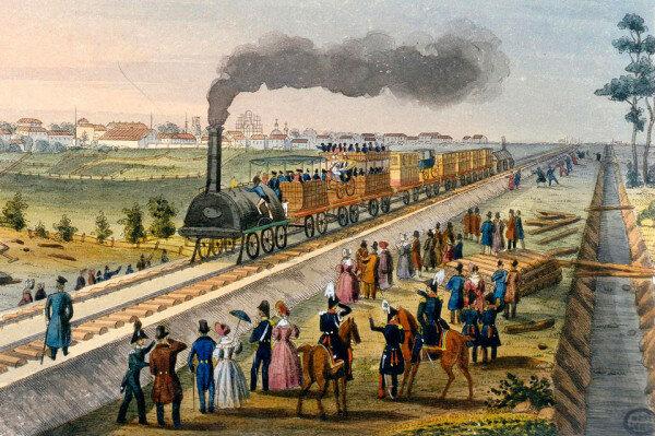Соружение железной дороги Санкт-Петербург - Москва