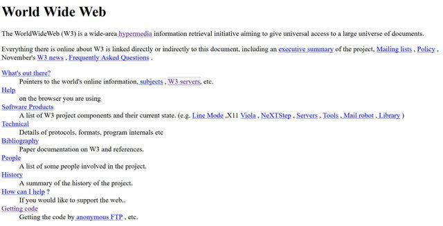 Tim Berners-Lee escribe la primera página web