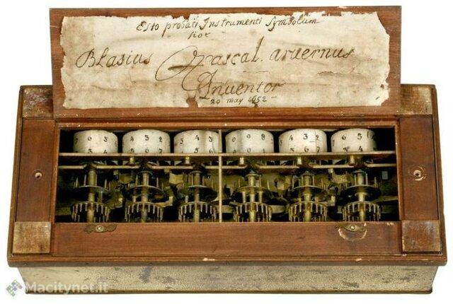 La máquina de sumar de Pascal