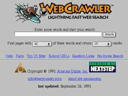 Web Crawler, Lycos and Excite!