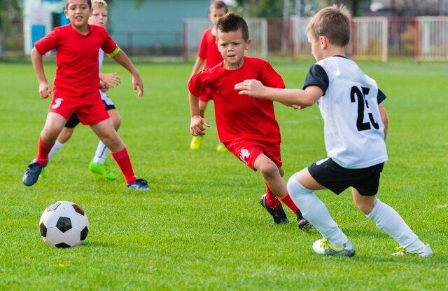 Primer dia jugant a futbol