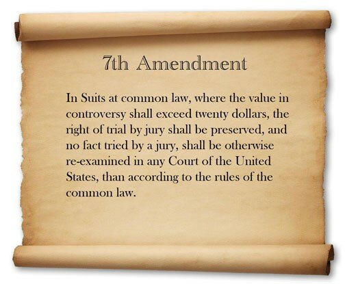the seventh amendment of the US constitution