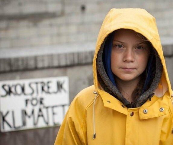 Greta Thunberg comença a protestar pel canvi climàtic (climàtic)