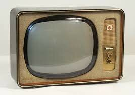 first black and white tv