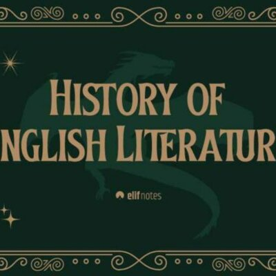 Chronological overview of English literature  timeline