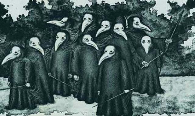 1347, La peste negra.