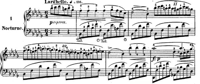 Nocturno no. 2 en Mib Mayor por Chopin