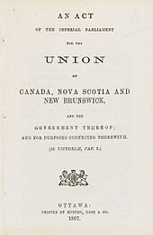 The Constitution Act creates Dominion of Canada
