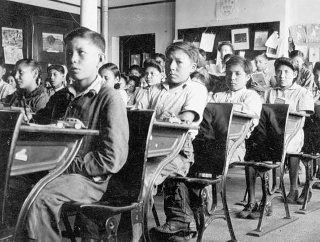 Attending Residential Schools Becomes Mandatory