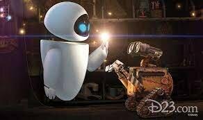 Eva warms up to Wall-E