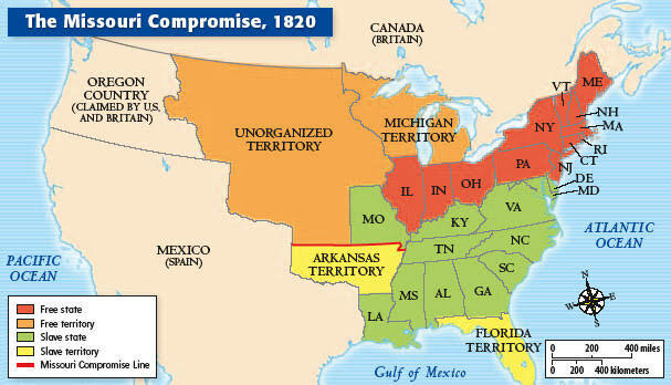 The Missouri Compromise Bill is Passed