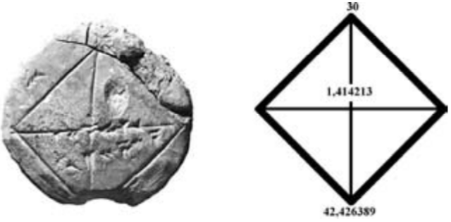 1900 A.C. EL TEOREMA DE PITÁGORAS EN BABILONIA