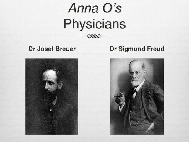 1900: Joseph Breuer y Sigmund Freud. Teoría psicodinámica de la personalidad